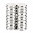 VA500 6 x 1 millimetres Round N33 NdFeB Magnet -- Silver (30 Pieces) (Rare Earth Magnets Category)