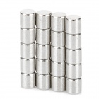 WL262 NdFeB Magnetic Cylinder -- Silver (20 Pieces / 3 x 1 millimetres) (Rare Earth Magnets Category)