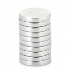 GD165 6 x 1 millimetres Round N33 NdFeB Magnet -- Silver (10 Pieces) (Rare Earth Magnets Category)