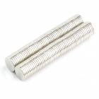 IJ684 Round NdFeB Magnets -- Silver (100 Pieces) (Rare Earth Magnets Category)