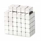 BX334 Cube NdFeB Magnet Pieces -- Silver (4 x 4 x 4 millimetres / 100 Pieces) (Rare Earth Magnets Category)
