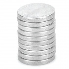 QK322 Powerful N38 NdFeB Round Magnet -- Silver (10 Pieces) (Rare Earth Magnets Category)