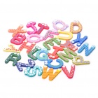 Colourful A Z 26 Alphabet Letter Wooden Fridge Magnet Toy (Rare Earth Magnets Category)