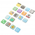 iPhone App Icon Fridge Magnets Set / Colour Assorted (18 Piece Set) (Rare Earth Magnets Category)