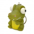 HL203 Cartoon Crocodile Stress Release Rubber Keychain -- Green (Hard to Find Gadgets Category)