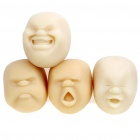 Cao Maru Stress Balls 4 Faces Set Pleasant / Anger / Crying / Laughing (White) (Hard to Find Gadgets Category)