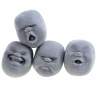 Cao Maru Stress Balls 4 Faces Set Pleasant / Anger / Crying / Laughing (Black) (Hard to Find Gadgets Category)
