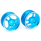 1 / 10 R / C Car On Road 6 Spoke Aluminium Alloy Wheel Blue (52.6 x 26.5 millimeters / 2 Piece Pack) (Remote Control Aeroplanes Category)