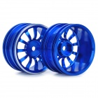 1 / 10 R / C Car On Road 12 Spoke Aluminium Alloy Wheel Blue (52.6 x 26.5 millimeters / 2 Piece Pack) (Remote Control Aeroplanes Category)