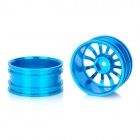 52.6 millimeters Aluminium Alloy 12 Spoke Wheel Hub for 1:10 R / C On road Car Light Blue (2 Piece Pack) (Remote Control Aeroplanes Category)