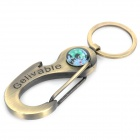 Portable Multifunction Carabineer Clip Keychain with Compass (Keychain Gadgets Category)