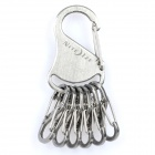 Nite Ize Stainless Steel Keychain with 6 S Binders Silver (Keychain Gadgets Category)
