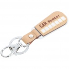 Creative DIY Car Number Plates Keychain Colour Assorted (Keychain Gadgets Category)