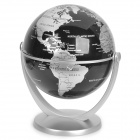 10 centimeters All direction Rotation English Map Administrative Globe Silver Plus Black (Toys Category)