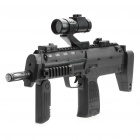 Submachine Gun Toy with Infrared Light / Vibration / Colourful Lights / Sound Effect (3 x AA) (Toys Category)
