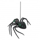 0TN136 Scary Halloween Lifelike Silicone Spider Toy -- Green Plus Black (Toys Category)
