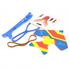 KU599 Fun Slings Airplane Model Toy with LED Light -- Blue (Toys Category)