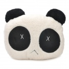 00OH512 Cry Expressional Panda Plush Throw Pillow -- Black Plus White (Size: S) (Toys Category)