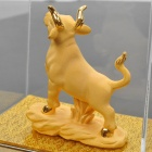 Decorative Chinese Zodiac Golden Statue Figurine Ox (Gifts Category)