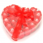 XD204 Romantic Heart Shaped 24-Soap Rose Flowers -- Red (Gifts Category)