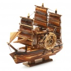 Valentines' Woodcraft 3 Sailing Boat Music Box Brown (Gifts Category)