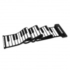 GQ249 YY-MD88 88-Key Roll-Up Silicone MIDI Piano -- Black Plus White (Music Supplies Category)