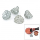15 millimeters Zinc Alloy Tobacco Pipe Screen Filter Ball Net Ball Silver (4 Piece Pack) (Smoking Pipes and Cases Category)