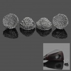 18 millimeters Zinc Alloy Tobacco Pipe Screen Filter Ball Net Ball Silver (4 Piece Pack) (Smoking Pipes and Cases Category)