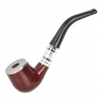 NQ311 Zinc Alloy Filter Cigarette Tobacco Smoking Pipe -- Brown Plus Black (Smoking Pipes and Cases Category)