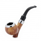 WI814 Cigar Tobacco Smoking Pipe -- Black Plus Brown Plus Silver (Smoking Pipes and Cases Category)