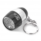 Camping Ultra Bright 8 LED 20LM White Light Torch with Keychain Black Plus Silver (2xCR2032) (LED Keychains Category)