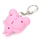 Frog Two White LED Flashing light Keychain with Sound Effect Pink (3 x LR1130) (LED Keychains Category)