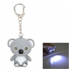 RR186 Bear 2-LED White Torch Keychain -- Grey (3 x AG3) (LED Keychains Category)