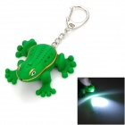 IF470 Funny Frog Adornment Keychain with LED Light and Croak Sound -- Green (LED Keychains Category)