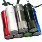 9 White LED Torch (Multicoloured 7 pack) (Torches - LED Category)