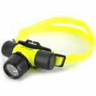 DW300 SX CREE XR-E Q5 LED 2-Mode 150lm Warm White Diving Headlamp -- Yellow Plus Black (1 x 18650 / 3 x AAA) (Torches - SSC Category)