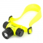 BO622 CREE XP-E Q5 150lm 4-Mode White Diving Headlamp -- Black Plus Fluorescent Yellow (1 x 18650) (Torches - SSC Category)