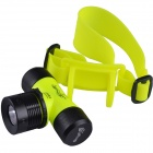 Sing Fire TC338 Cree XP-E Q5 200lm 3-Mode Underwater Diving Headlamp -- Yellow (1 x 18650 / 3 x AAA) (Torches - SSC Category)