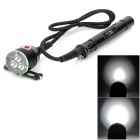 AR-CHON-GD XU586 3 x CREE XM-L U2 3000lm 3-Mode White Diving Torch -- Black (3 x 26650) (Torches - SSC Category)