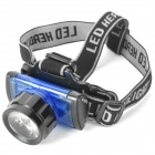 OB285 Retractable 3W 4.5V 170LM LED White Light Zoom Headlight -- Black Plus Blue (3 x AAA) (Headlamps Category)