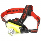 GQ764 Retractable 4.5V 270LM LED White Light Zoom Headlight -- Silver Plus Yellow (3 x AAA) (Headlamps Category)