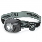 YX601 0.5W 45LM 3-Mode White Light 1-LED Headlamp -- Black (3 x AAA) (Headlamps Category)
