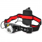 QX670 New-933 Cree XR-E Q5 160lm 2-Mode White Light Zooming Headlamp -- Black Plus Silver (3 x AAA) (Headlamps Category)