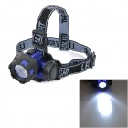 KT872 90 Degrees Rotation 3W 80lm White Light LE-D-GD Night Fishing Headlamp -- Blue Plus Black (3 x AAA) (Headlamps Category)