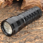 XH944 380 to 400nm 14-LED Ultraviolet Light UV Torch -- Black (3 x AAA) (Torches - UV Category)