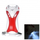 QO296 Multi-Function 5-LED 2-Mode Dynamo Torch with FM / Siren / USB Power Outlet -- Red Plus White (Torches - Dynamo Category)