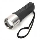 HI545 Multi-Functional Hand Cranked 3-Mode 80 to 100lm LED White Zooming Torch -- Black Plus Silver (Torches - Dynamo Category)