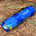 YC313 SI-PIK-GD Cree XR-E Q5 120LM LED White Light Zoom Torch with Clip -- Blue (1 x AA) (Torches - AA Cree Category)