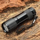 AA790 9LZ 1-Mode 395-400nm Purple 9-LED Torch with Strap -- Black (Torches - LED Category)