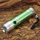 Sm-all Sun-GD SK187 3W LED 50lm White Torch with Strap -- Green Plus Silver (3 x AAA) (Torches - LED Category)